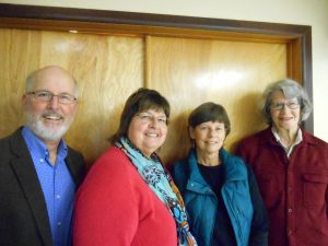 PAL Officers 2016 Left to right: Bill Fulton, Vice-President; Libby Anderson, Secretary; Lisa Stowers, Treasurer; Nancy Sefton, President
