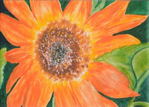 Mary Saurdiff flower painting